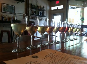 Flight of 10 hard apple ciders at Northern Natural Cider House