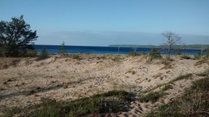 View of Lake Michigan from our campsite