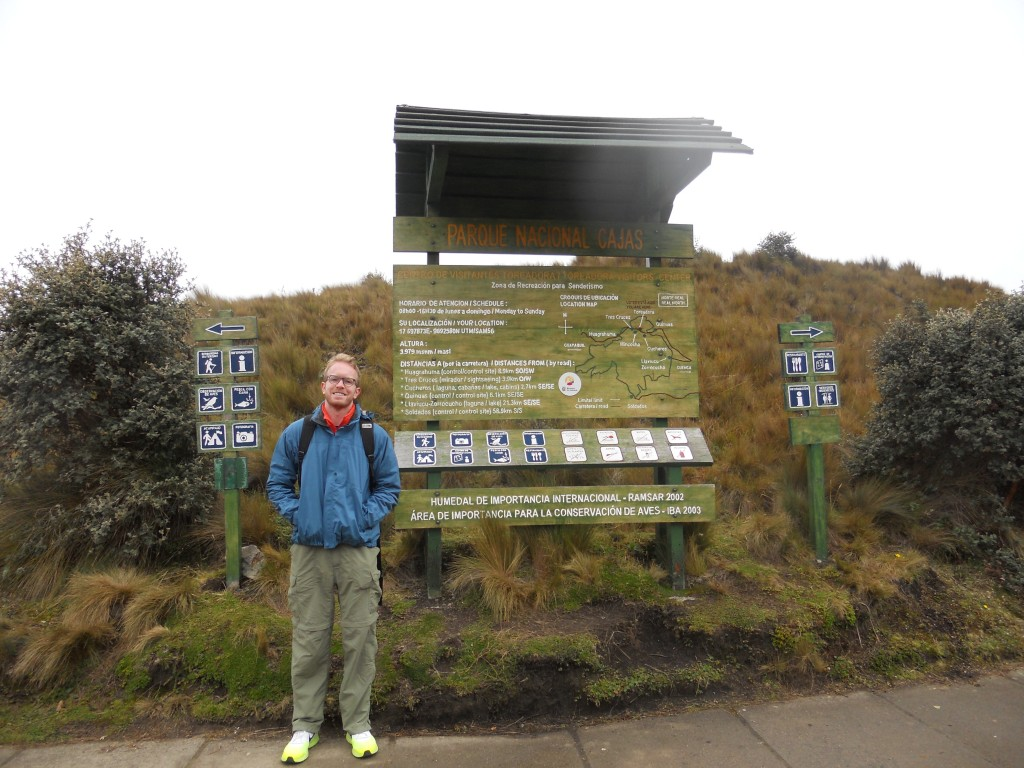 Entrance to Cajas