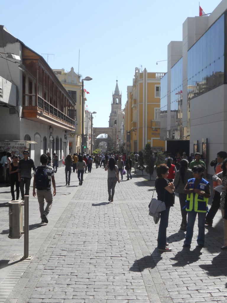 Walking Downtown Arequipa