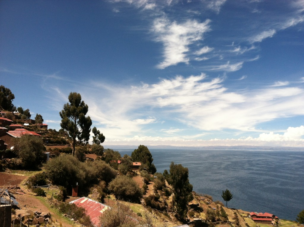 Island on Lake Titicaca